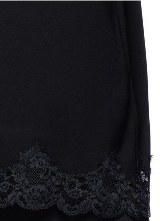 Theory-'Sakshee' scalloped lace hem crepe camisole