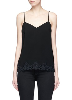 THEORY 'Sakshee' scalloped lace hem crepe camisole