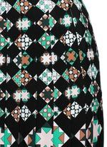 'Monreale' print pleat sablé skirt