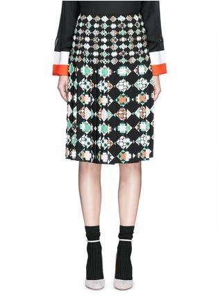 Main View - Click To Enlarge - Emilio Pucci - 'Monreale' print pleat sablé skirt