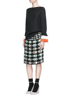 Emilio Pucci'Monreale' print pleat sablé skirt