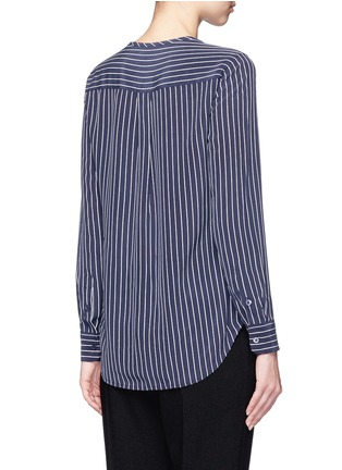 Back View - Click To Enlarge - Equipment - 'Lynn' stripe silk shirt