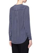 'Lynn' stripe silk shirt