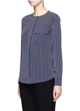 Front View - Click To Enlarge - Equipment - 'Lynn' stripe silk shirt