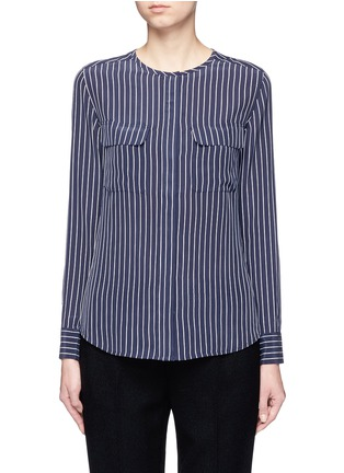 Main View - Click To Enlarge - Equipment - 'Lynn' stripe silk shirt