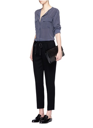 Figure View - Click To Enlarge - Equipment - 'Lynn' stripe silk shirt
