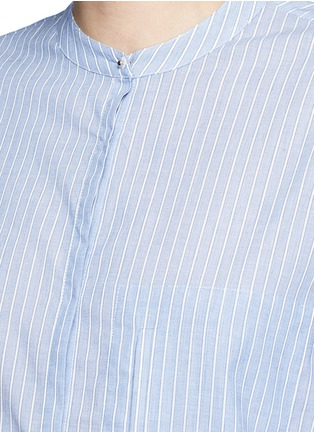 Detail View - Click To Enlarge - Equipment - 'Elsie' stripe cotton tunic shirt
