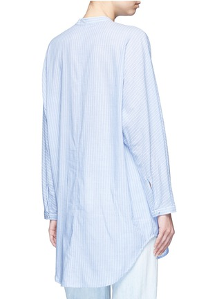Back View - Click To Enlarge - Equipment - 'Elsie' stripe cotton tunic shirt