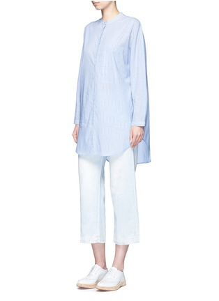 Figure View - Click To Enlarge - Equipment - 'Elsie' stripe cotton tunic shirt