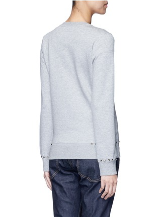 Back View - Click To Enlarge - Valentino - 'Rockstud Untitled 08' cotton blend sweatshirt