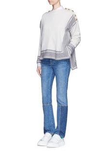 Alexander McQueenLogo button oversized cashmere sweater