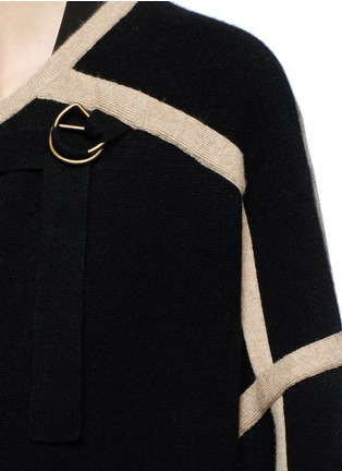Detail View - Click To Enlarge - Chloé - Contrast trim wool-cashmere coat