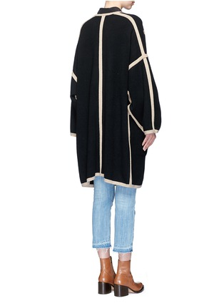 Back View - Click To Enlarge - Chloé - Contrast trim wool-cashmere coat
