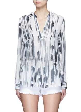 Main View - Click To Enlarge - Vince - 'Cascade' ink print silk georgette shirt