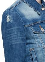 'Harlow Shrunken' distressed vintage denim jacket
