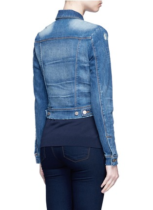 Back View - Click To Enlarge - J Brand - 'Harlow Shrunken' distressed vintage denim jacket