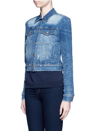 Front View - Click To Enlarge - J Brand - 'Harlow Shrunken' distressed vintage denim jacket