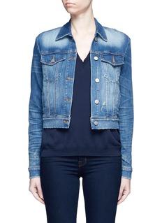 J Brand'Harlow Shrunken' distressed vintage denim jacket