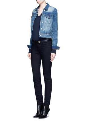 Figure View - Click To Enlarge - J Brand - 'Harlow Shrunken' distressed vintage denim jacket