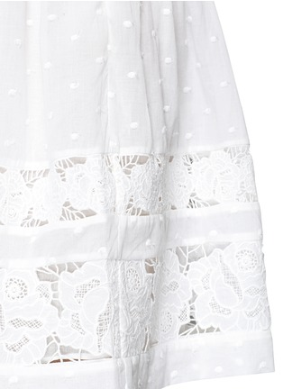 Detail View - Click To Enlarge - Zimmermann - 'Realm' floral lace embroidery dress