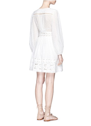 Back View - Click To Enlarge - Zimmermann - 'Realm' floral lace embroidery dress