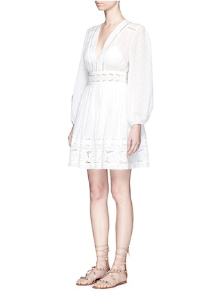 Front View - Click To Enlarge - Zimmermann - 'Realm' floral lace embroidery dress