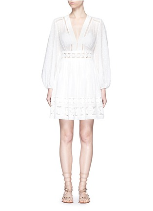 Main View - Click To Enlarge - Zimmermann - 'Realm' floral lace embroidery dress