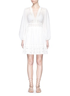 Zimmermann'Realm' floral lace embroidery dress