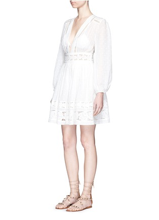 Figure View - Click To Enlarge - Zimmermann - 'Realm' floral lace embroidery dress