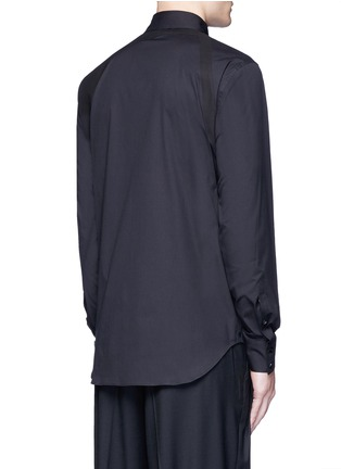 Back View - Click To Enlarge - Alexander McQueen - Slim fit harness cotton shirt