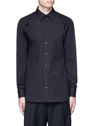 Main View - Click To Enlarge - Alexander McQueen - Slim fit harness cotton shirt