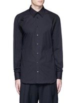 Slim fit harness cotton shirt