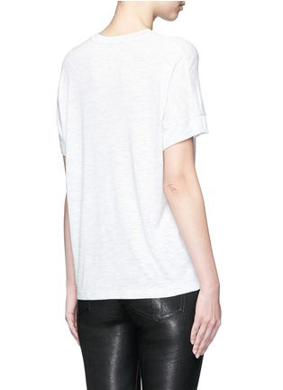 Back View - Click To Enlarge - Vince - Heathered jersey cocoon T-shirt