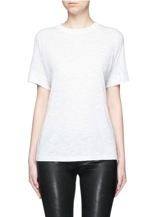Main View - Click To Enlarge - Vince - Heathered jersey cocoon T-shirt