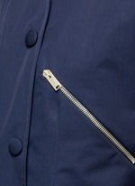 Zip pocket technical parka jacket