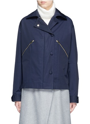 Main View - Click To Enlarge - Stella McCartney - Zip pocket technical parka jacket