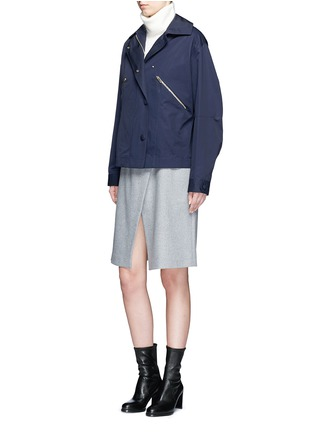Figure View - Click To Enlarge - Stella McCartney - Zip pocket technical parka jacket