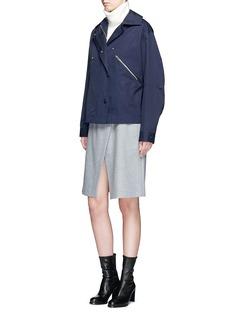 Stella McCartneyZip pocket technical parka jacket
