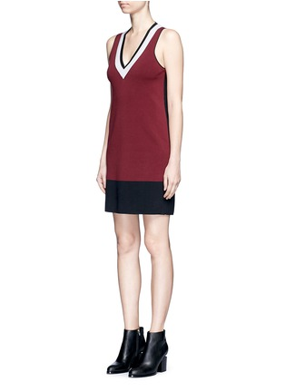 Front View - Click To Enlarge - rag & bone/JEAN - 'Ainsley' sport stripe V-neck sweater knit dress