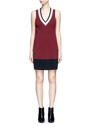 Main View - Click To Enlarge - rag & bone/JEAN - 'Ainsley' sport stripe V-neck sweater knit dress