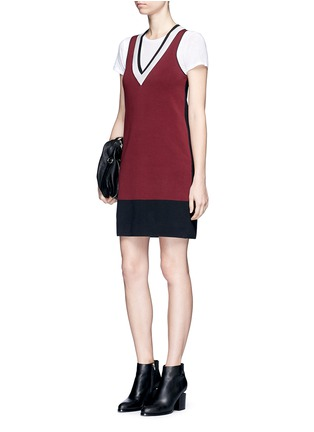 Figure View - Click To Enlarge - rag & bone/JEAN - 'Ainsley' sport stripe V-neck sweater knit dress