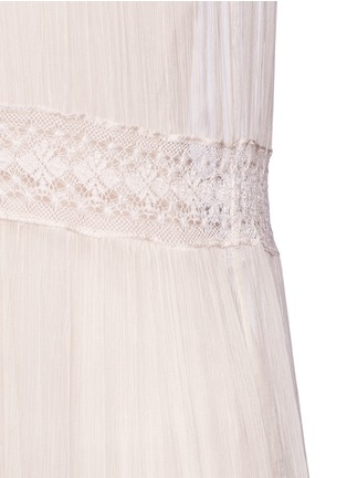Detail View - Click To Enlarge - Needle & Thread - Inset lace crinkled chiffon gown