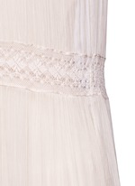 Inset lace crinkled chiffon gown