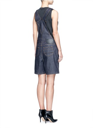 Back View - Click To Enlarge - Givenchy - Denim dungaree rompers