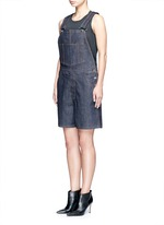Denim dungaree rompers