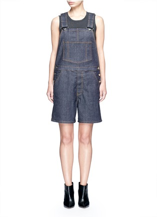 Main View - Click To Enlarge - Givenchy - Denim dungaree rompers