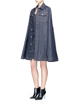 Figure View - Click To Enlarge - Givenchy - Denim dungaree rompers