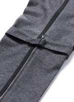 Harness wool flannel cropped pants