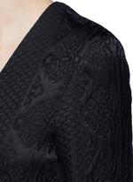 'Muan' floral cloqué wool-silk maxi coat