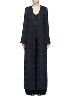 The Row 'Muan' floral cloqué wool-silk maxi coat